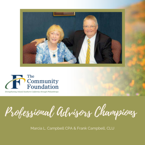 Marcia L. Campbell, CPA Awarded Champion of the Community Foundation